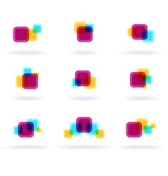 Colorful symbols vector