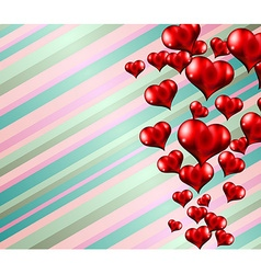 Lovely striped valentines day themed background vector