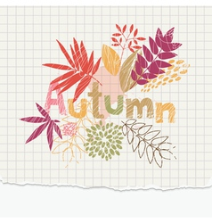 autumn notepaper vector image