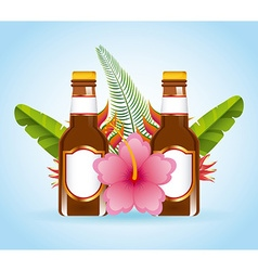 Tropical cocktail vector