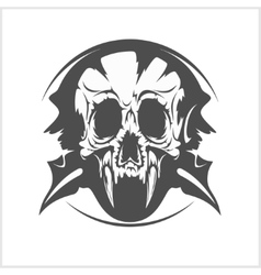 Demon skull on white vector