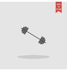 Barbell icon concept for vector