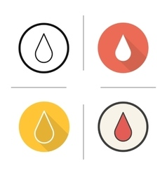 Blood drop icons vector