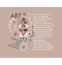 Anvant garde art vector