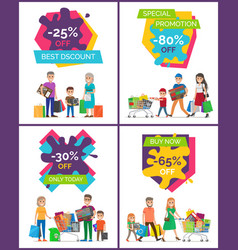 best discount -25 off placard vector image