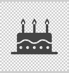 Birthday cake flat icon fresh pie muffin on vector