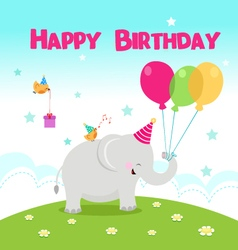 Birthday elephant vector