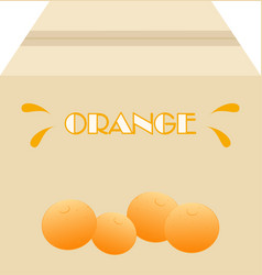 box of oranges vector image vector image