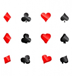 Casino card symbols vector