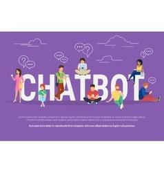 Chatbot concept vector