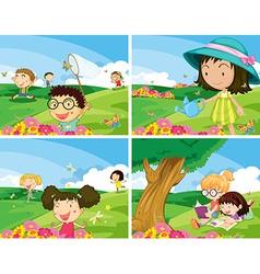 Children outdoor vector image vector image