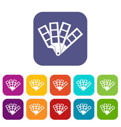 color palette guide icons set vector image