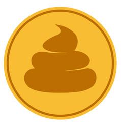 Crap gold coin vector