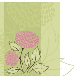 Design of flowers Flower background vector image vector image