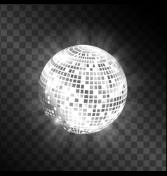 disco ball isolated on transparent background vector image vector image