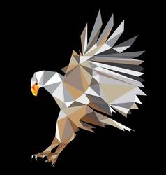 Eagle polygonal art vector