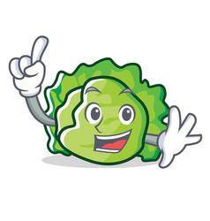 Finger lettuce character mascot style vector