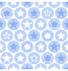 Geometric blue kids seamles pattern vector image vector image