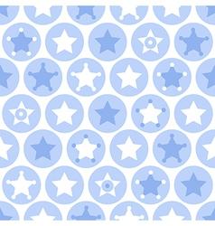 Geometric blue kids seamles pattern vector