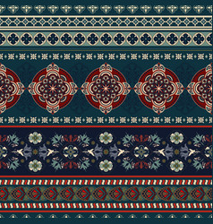 Geometric ornament for weaving knitting vector