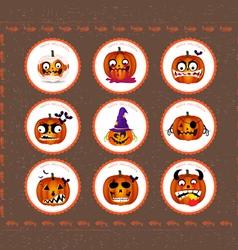 Halloween printables vector