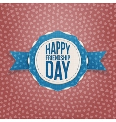 Happy friendship day holiday banner vector