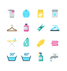 household washing drying and laundry flat vector image vector image