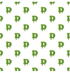 Letter d made of green slime vector