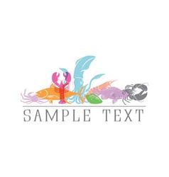 Logo seafood vector