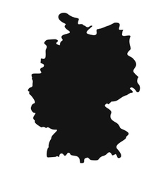 Map of germany icon simple style vector