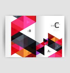 Modern business brochure or leaflet print cover vector