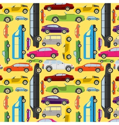 Passenger car background vector