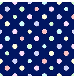 Pastel Rainbow Colorful Polka dot Blue vector image