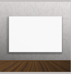 Realistic blank mock up poster on concrete wall vector