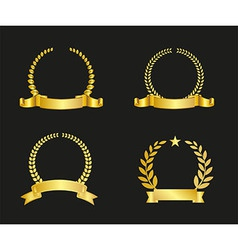 Ribbon and laurel wreath vector
