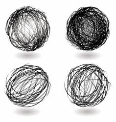 scribble nest variation vector image vector image