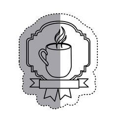 Sticker silhouette border heraldic decorative vector