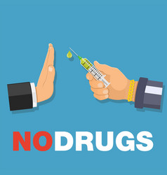 stop drugs concept vector image vector image