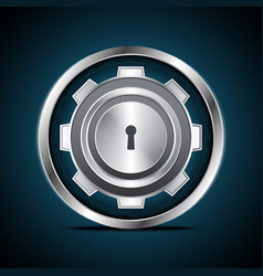 technology digital cyber security keyhole gear vector image vector image