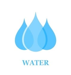 water drop sign vector image