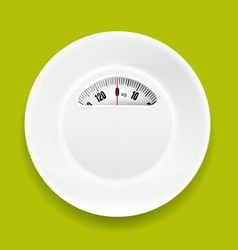 white plate with weight scale vector image vector image