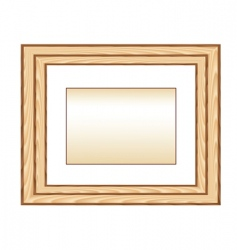 wood photo framework vector image vector image