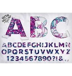 Wrapped alphabet lines vector image vector image
