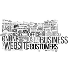 Your website as a virtual office text word cloud vector