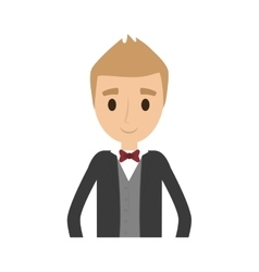 Man male avatar suit person icon vector