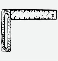 Setsquare symbol vector image