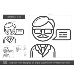Professor line icon vector