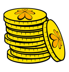 stacks of gold coins icon icon cartoon vector image