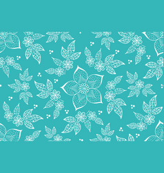 Flower seamless pattern element vector
