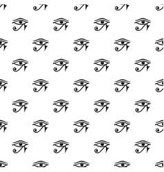 eye of horus egypt deity pattern vector image
